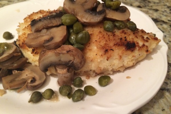 chicken with mushrooms & capers – chicken piccata's skinnier cousin