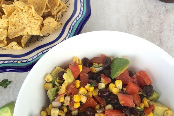 black bean, corn & avocado salsa (/salad)