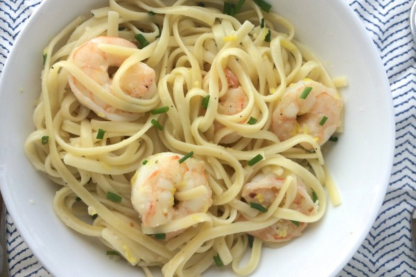 linguine with lemon garlic shrimp