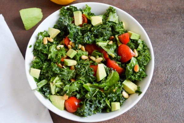 Sweet and Spicy Kale Salad