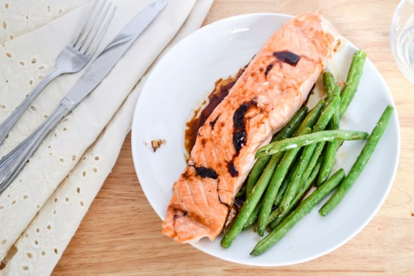 Soy and Brown Sugar Glazed Salmon