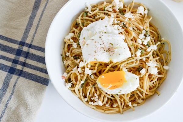 Whole Wheat Spaghetti with Poached Egg