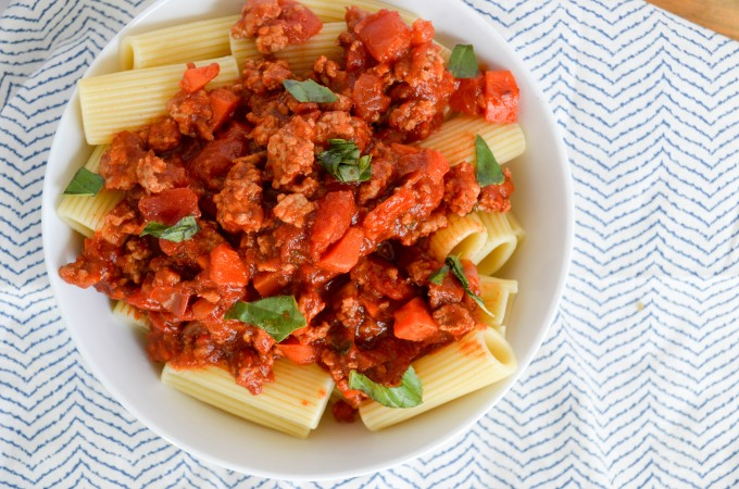 Simple Pork Bolognese