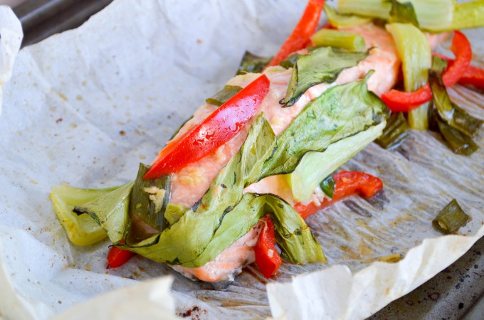 Asian Style Salmon in Parchment