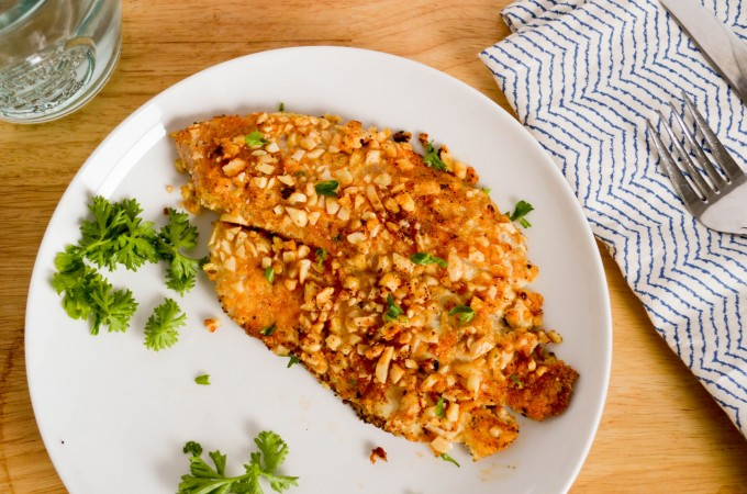 Honey Dijon Almond Crusted Tilapia
