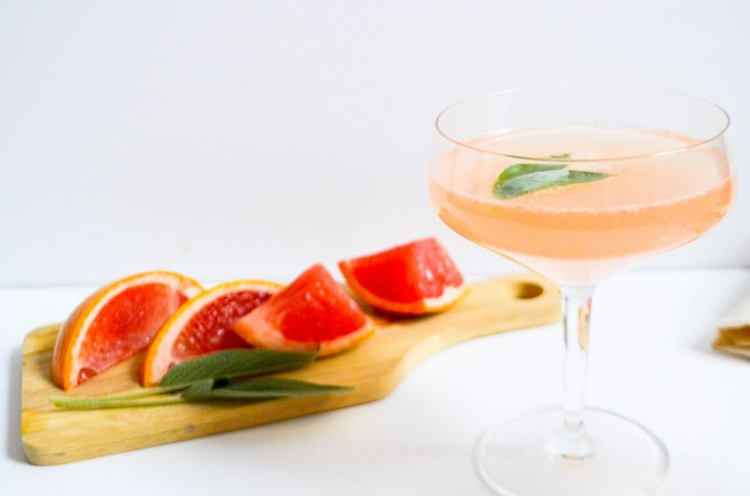 Sparkling Sage Grapefruit Cocktail